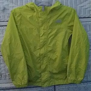 North face girls yellow wind jacket